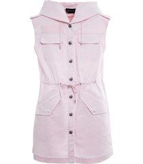 mr & mrs italy cotton tech parka dress for woman