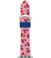 kate spade new york pink cherry-print silicone 38/40mm bands for apple watch