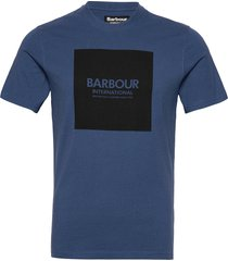 b.intl block tee t-shirts short-sleeved blå barbour
