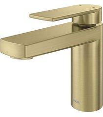 misturador monocomando para banheiro mesa bica baixa argon ouro escovado - 00847772 - docol - docol