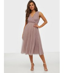 anaya wrap midi dress skater dresses