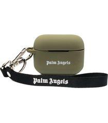 palm angels miami logo airpod case - green