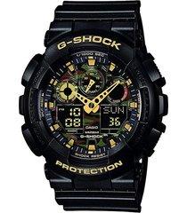 reloj  casio modelo ga_100cf_1 negro