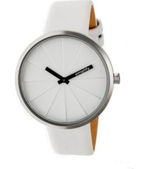 simplify quartz the 4000 genuine white leather watch 43mm