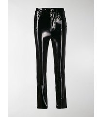 unravel project shiny-effect skinny trousers
