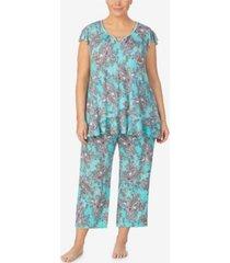 ellen tracy women's plus size short sleeve pajama top