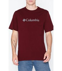 columbia basic logo tee t-shirts & linnen red