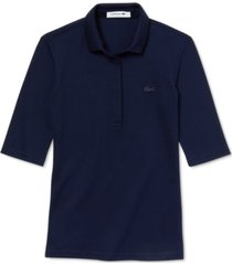 lacoste half sleeve slim fit stretch pique polo shirt