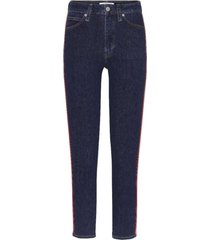 jeans high rise skinny ankle azul calvin klein