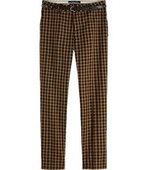 broek classic tailored bruin