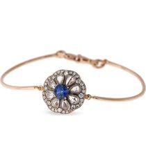 beirut' diamond sapphire 18k rose gold bracelet