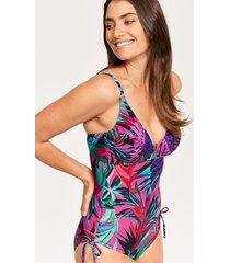 bahama palm underwire non padded shaping one-piece swimsuit