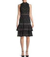 azita fit-&-flare lace dress