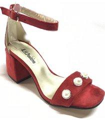 sandalia roja lali ramirez by rh positivo perlas