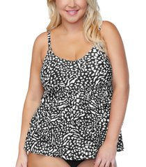 island escape plus size tiered underwire tankini top, created for macys women's swimsuit