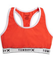 women's tomboyx next gen racerback bra, size small - red