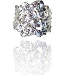 pierścionek z płatków srebrny