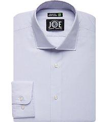 joe joseph abboud repreve® lavender check slim fit dress shirt
