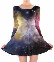 galaxies meeting longsleeve skater dress