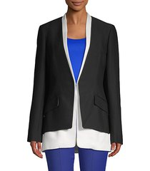 tiered long-sleeve blazer