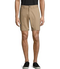 saks fifth avenue men's stretch-cotton shorts - chinois green - size 36