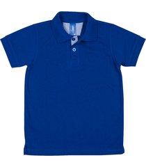 camiseta tipo polo azul rey hamer
