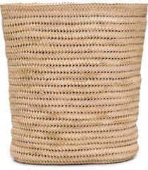 mochila feminina max bucket palha - bege