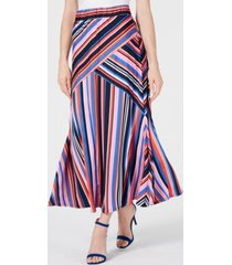 ny collection petite striped maxi skirt