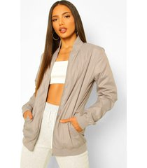 tall waterproof longline bomber jacket, charcoal