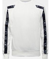 men's raglan taping long sleeve sweater