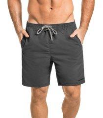 pantaloneta silueta larga hawai para hombre-gris