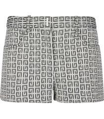 givenchy all-over logo shorts