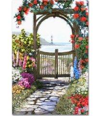 "the macneil studio 'coastal gate' canvas art - 19"" x 12"" x 2"""