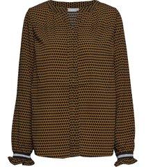 fresorienta 1 blouse blus långärmad orange fransa