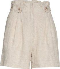elsa linen shorts shorts paper bag shorts beige morris lady