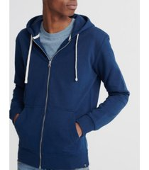 superdry men's organic cotton standard label loopback zip hoodie