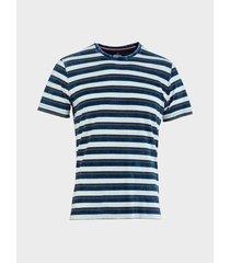 camiseta a rayas efecto denim para hombre 05182