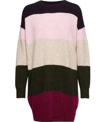 maville knit long o-neck gebreide trui multi/patroon second female