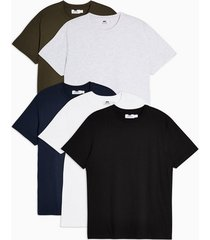mens multi assorted color t-shirt 5 pack*