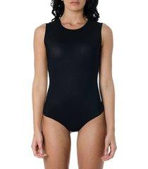 maison margiela stretch-jersey black color bodysuit