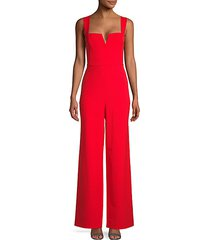 sleeveless front vent jumpsuit
