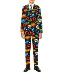 boy's opposuits badaboom two-piece suit with tie (big boy)
