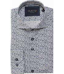 duetz1857 duetz 1857 dress overhemd bloemprint wit