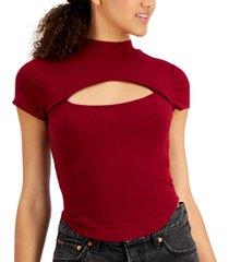 crave fame juniors' cut-out corset top