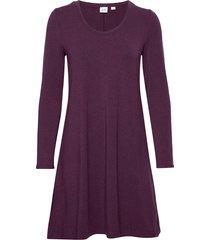 u-neck swing dress knälång klänning lila gap