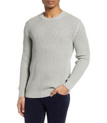 men's french connection auderly crewneck waffle sweater