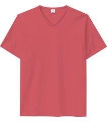 camiseta tradicional decote v wee! salmão - p