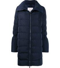 moncler flared-sleeve puffer jacket - blue