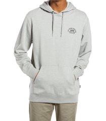 men's vans authentic original pullover hoodie, size small - grey