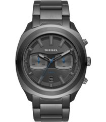 diesel men's tumbler gunmetal stainless steel bracelet watch 48mm
